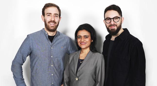 Heights founders Dan Murray-Serter and Joel Freeman, with adviser Dr Tara Swart.