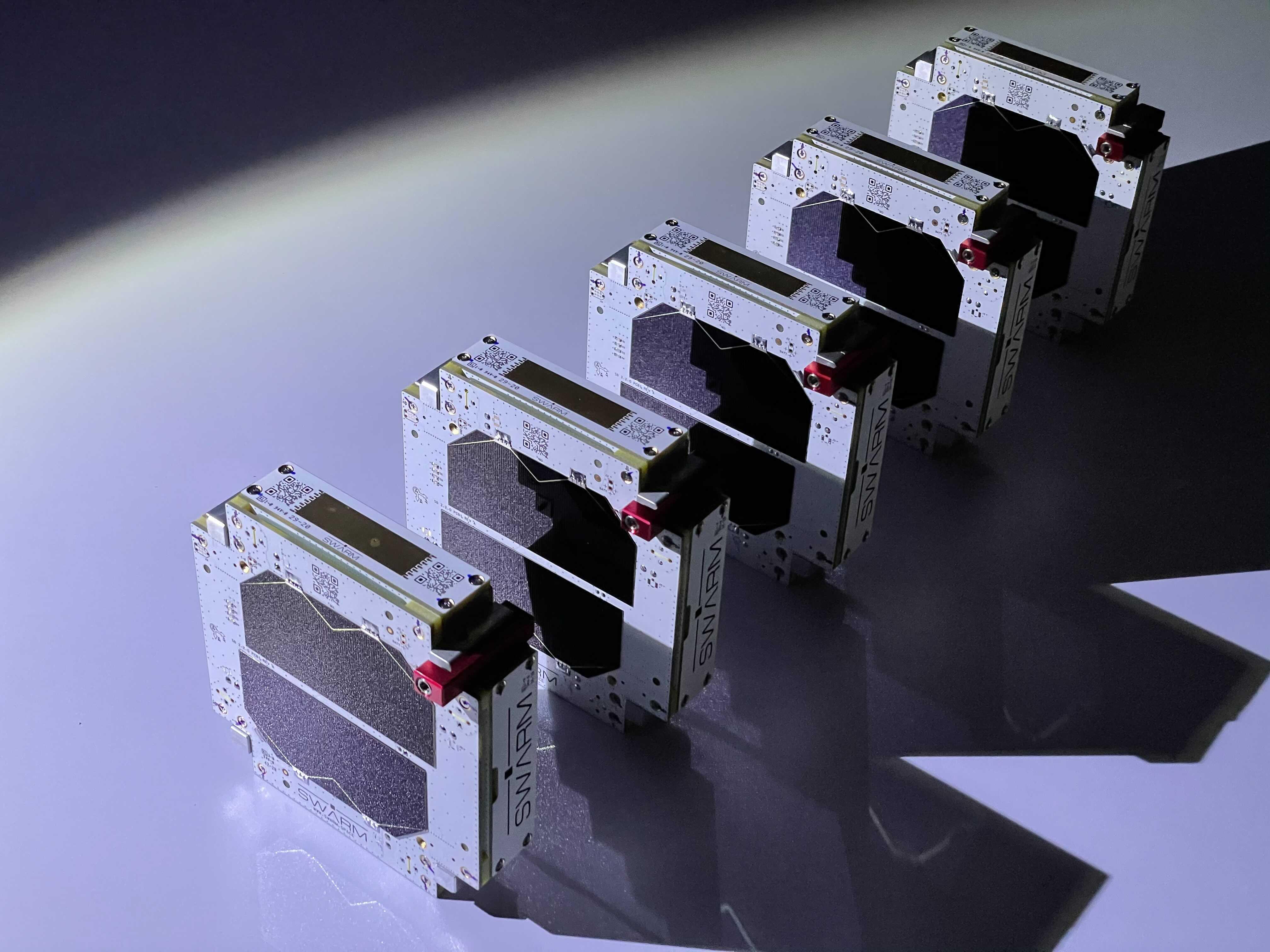 Swarm's sandwich-sized IoT network satellites.