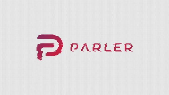 distorted parler logo