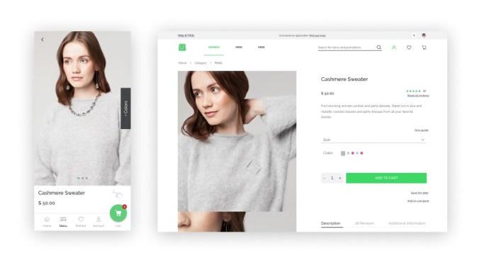 Vue Storefront screenshot