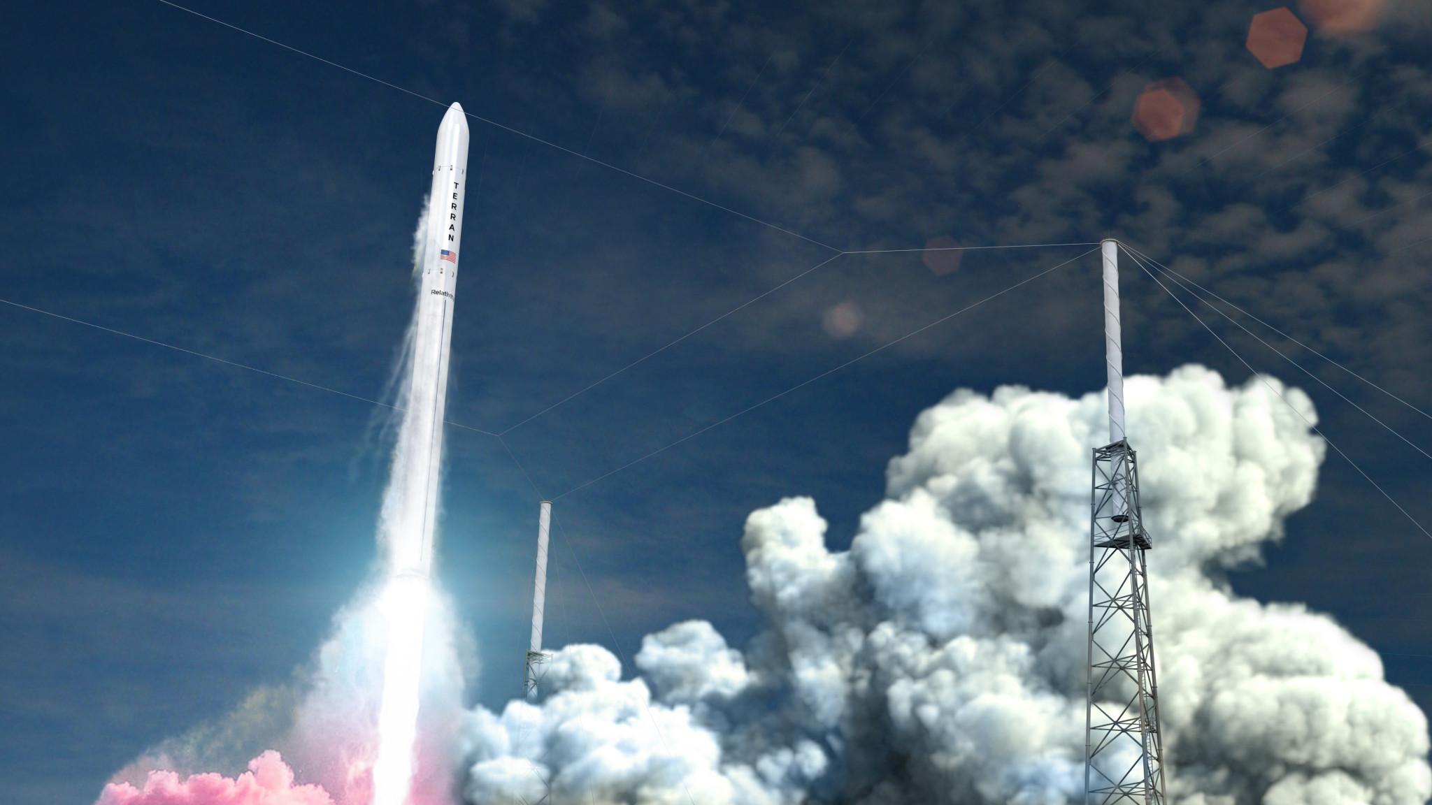 Relativity Space's Terran 1 rocket, artist's rendering