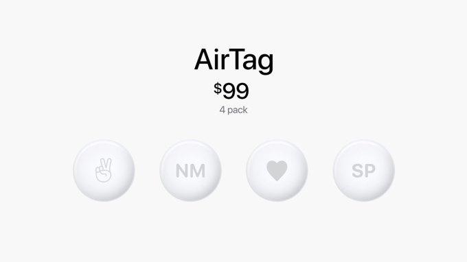 apple airtag $99 4 pack